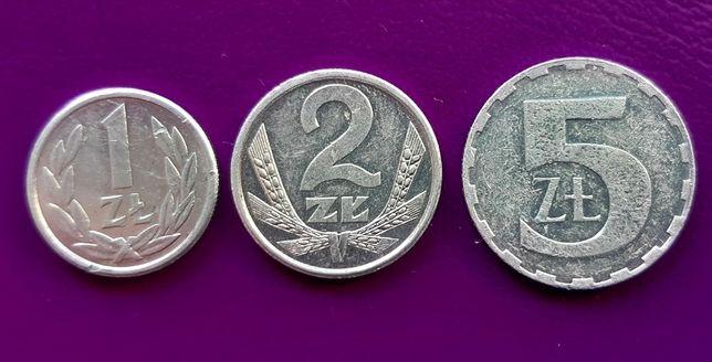 3 Monety/Moneta - PRL 1/2/5 zł 1990 - Piękne! - Oryginały! - Okazja!