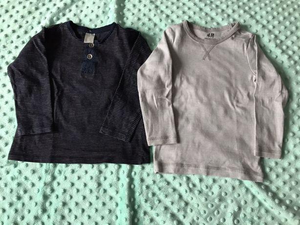 H&M bluzki koszulki długi rękaw rozm. 86