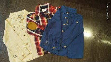 Рубашки на мальчика 86р. Комплект.