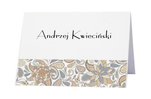 Winietki na stół weselny – kolekcja ECRU KWIATOWA