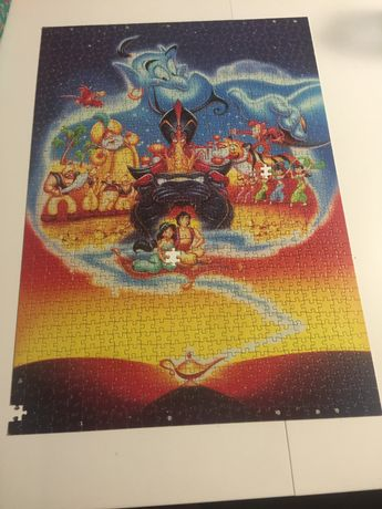 Puzzle Aladdin 1000 elemnetów Disney - 3 braki
