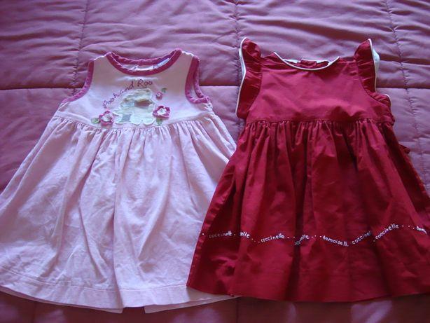 Lote de 2 vestidinhos 6-12 meses