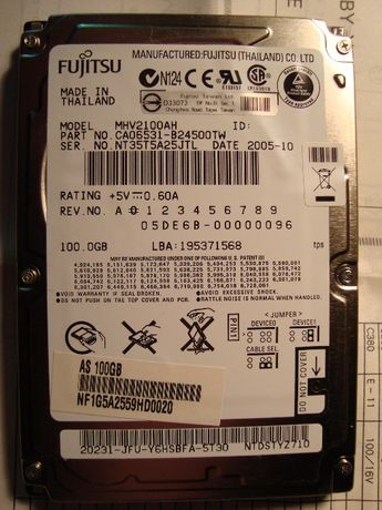 HDD IDE и SATA б/у небольшого обьёма