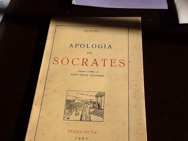 PLATÃO.— APOLOGIA DE SÓCRATES. Tradução e Prefácio por Sant'Anna Dion.