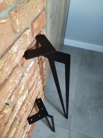 Dekoracyjne metalowe nogi stołu stolika komody szafki plaster drewna