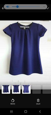 Granatowa trapezowa sukienka 98cm