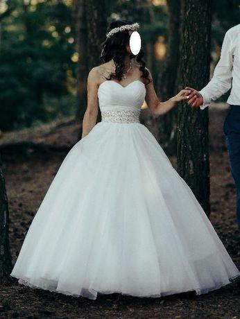Piękna Suknia ślubna z kryształkami Princeska Vanessa 1401/2 (2016)