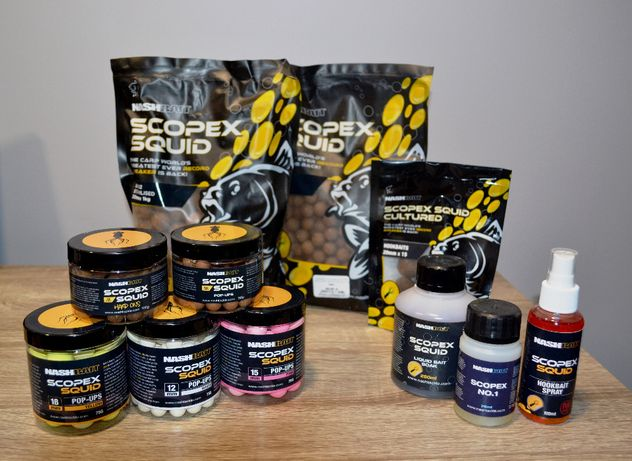 NASH BAITS kulki zanętowe SCOPEX SQUID Stabilised Boilies 5KG