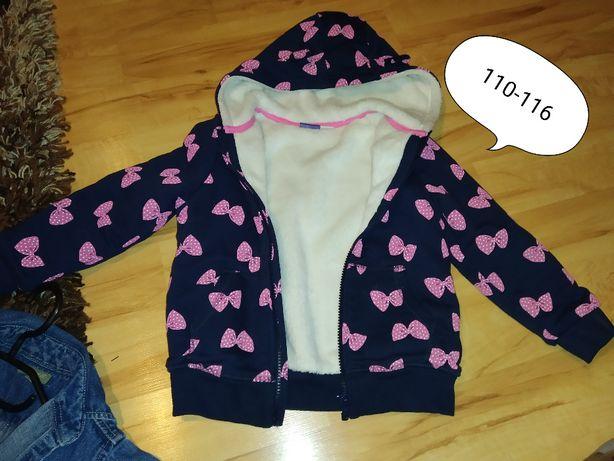 bluza 110-116 rozpinana, bluzka ocieplana, kurtka