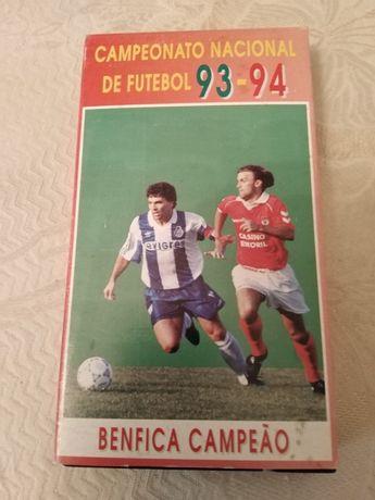 Campeonato Nacional de Futebol 1993 /1994 Cassete de Vídeo VHS