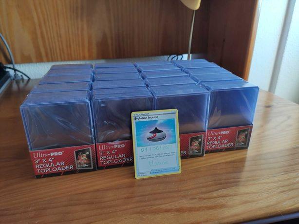 Pack 25 Toploaders / Sleeves / Holders Cartas Pokémon, Yu-Gi-Oh, Magic