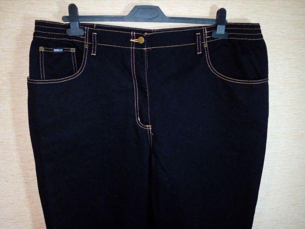 Джинсы черные 60/62 размер, 54 евро