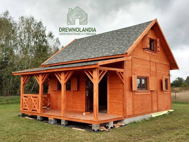 Domek z drewna altana działkowa na ROD altanka producent altan i domów
