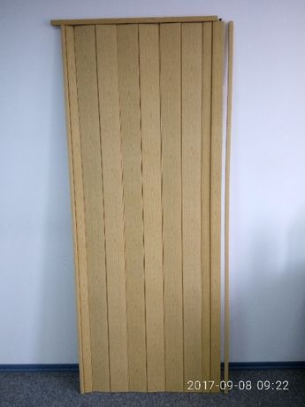 Дверь гармошка глухая 1м