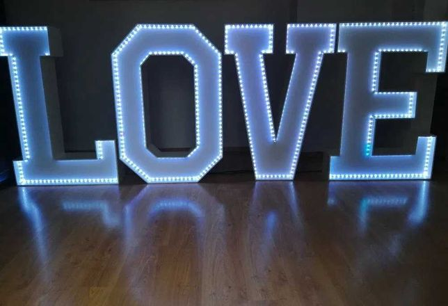 Napis LOVE, Ślub, Wesele, Zaręczyny, Sesja Zdjęciowa
