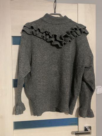 Swetr Zara M szary falbanka