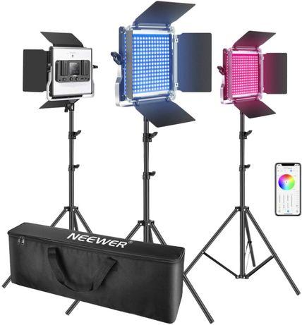 Painel de Luz led Neewer 660 RGB Com controlo por APP NOVO