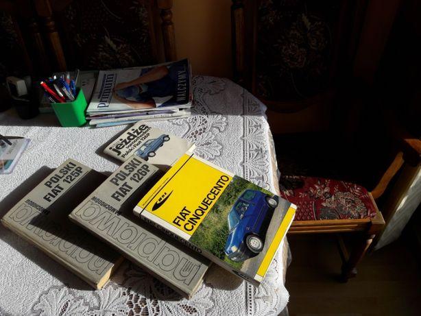 Naprawa samochodów - książki z serii dla Fiat: 125p; 126p; Cinquecento
