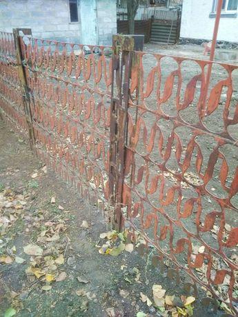 Забор металлический сборной