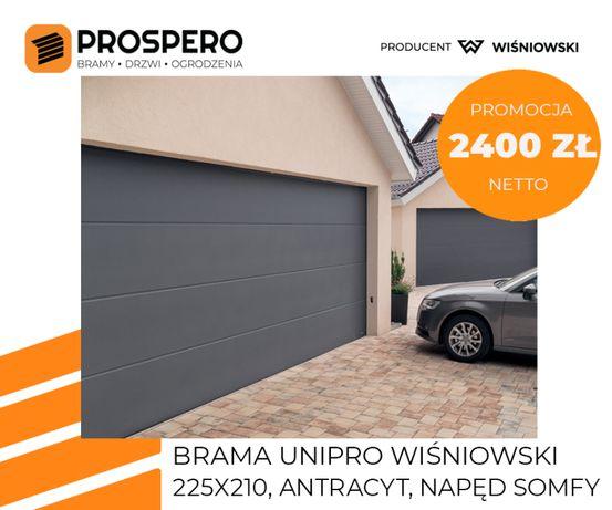 Wiśniowski UniPro therm brama segmentowa grafit / Kęty Wadowice Zator