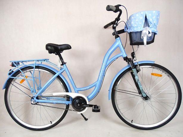 Rower miejski RAYON AVENA 28'' dynamo piasta 3 biegi błękitna