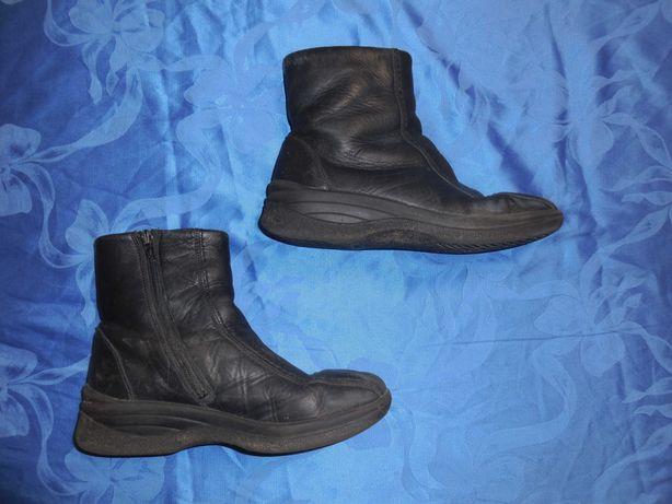 Зимние сапоги ботинки Riker, натуральная кожа на овчине, размер 36