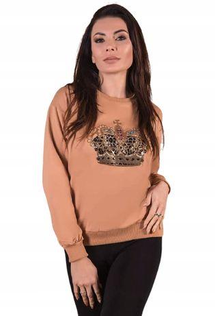 Rewelacyjna bluza z koroną cyrkonie M/L
