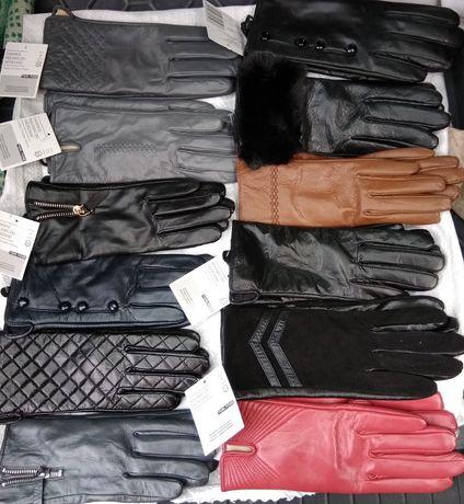 Перчатки НОВЫЕ кожа Европа мужские женские осень-зима размеры и модели