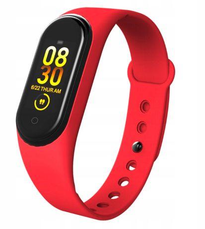 M4 Opaska Sportowa Smartwatch SmartBand Zegarek / Czerwony