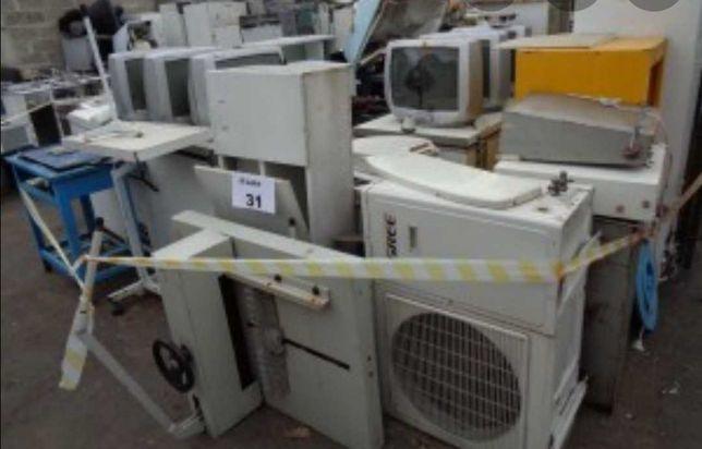 Recolho sucatas, máquinas de lavar roupa, secar, esquentadores