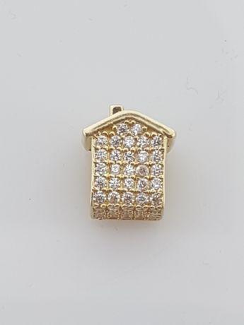 Złoty element charms na bransoletkę Pandora 14k.Nowy (154)