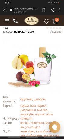 Духи, D&P T-06 Нішева парфумерія,похож на Tiziana Terenzi Kirke