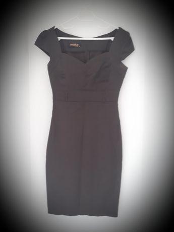 Темно-коричневое классическое платье