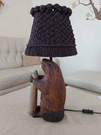 Rzeźba kinkiet lampka rękodzieło unikat