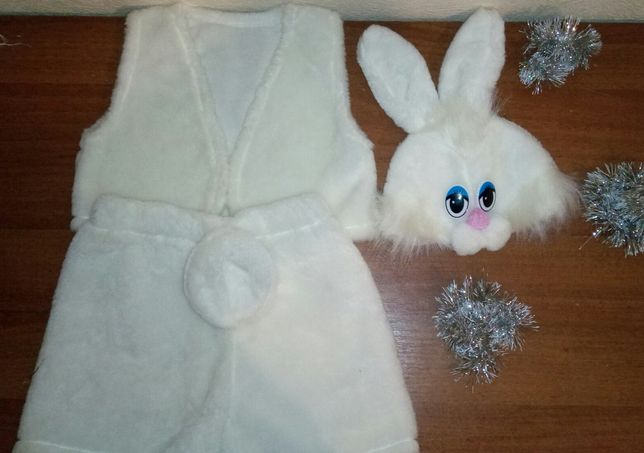 Костюм зайца, зайчика. Новогодний. Карнавальный. На утренник