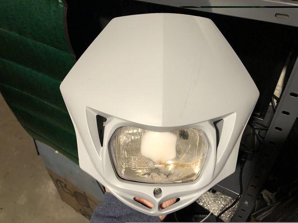 Lampa motocyklowa uniwersalna H4, szary mat