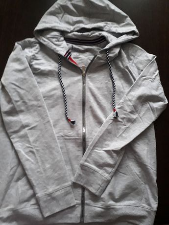 Bluza szara z kapturem L