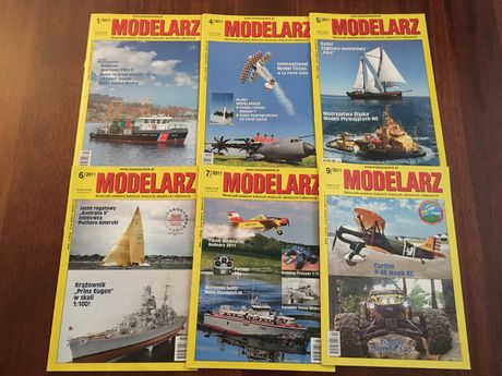Czasopismo Modelarz zestaw rok 2011