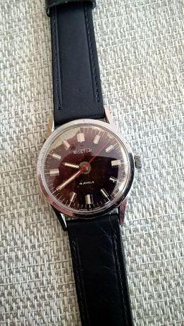 Wostok ciemny granat w oryginalnym stanie mechaniczny zegarek