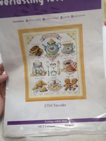 Набор для вышивания крестиком (остатки) семплер