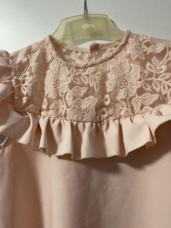 Sukienka kolor pudrowy róż r.158