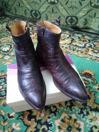 Сапожки мужские кожаные