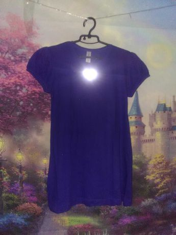 Нова сукня XS для дівчинв футболка туніка світловідбиваючі сердечка