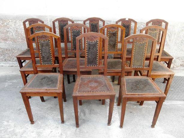 Conjunto 12 Cadeiras Couro Pregaria