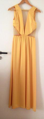 Vestido Amarelo Comprido