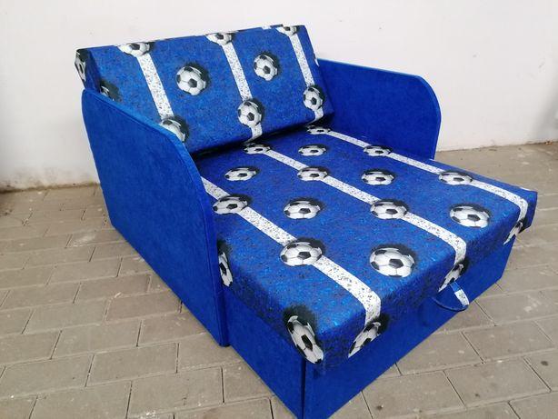 Sofa fotel rozkładany dla dzieci dwa boki