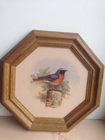 Керамическое панно настенная плакетка Птица