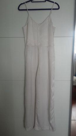 H&M kombinezon złamana biel szerokie nogawki komunia chrzciny 40