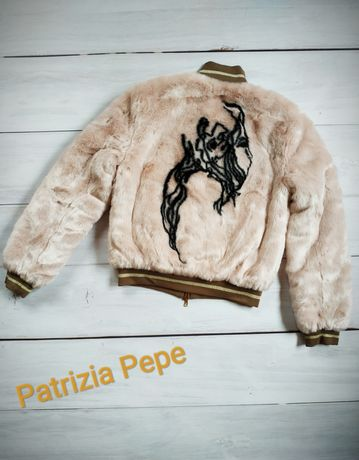 Оригинальная двухсторонняя куртка шубка от бренда Patrizia Pepe