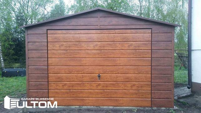 Garaż blaszany 4x6 NOWOŚĆ cały szeroki poziomy panel PROFIL ZAMKNIĘTY